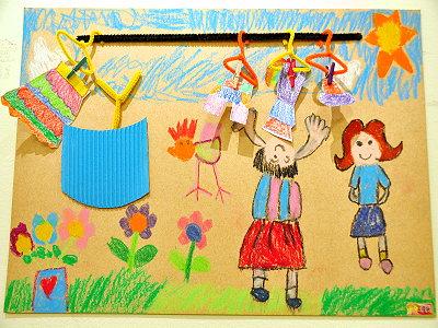 新方幼稚园儿童美术画展 y.y.chou coffee感受童真之美